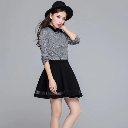 Mini skirt with mesh inserts - SD-style-shop