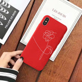 BTS Love yourself Flower Phone Case For iPhone - SD-style-shop