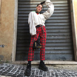 Red plaid Pants - SD-style-shop
