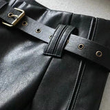 PU leather shorts with belt - SD-style-shop