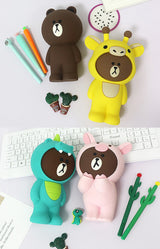 Linefriends BT21 silicone pencil case - SD-style-shop