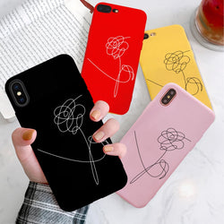 BTS Love yourself Flower phone Case For Samsung Galaxy - SD-style-shop