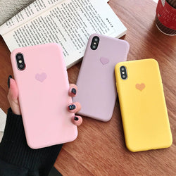 Phone cover for iPhone with cute heart - SD-style-shop