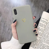 Phone cover for iPhone Vintage love phonecase with golden heart - SD-style-shop