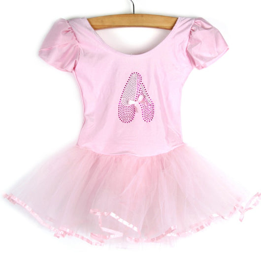Girls Kids Ballet dance leotard with tutu Ballet Dancewear 3-7Y - SD-style-shop