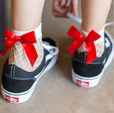 Fishnet Socks With Cute Bows - SD-style-shop