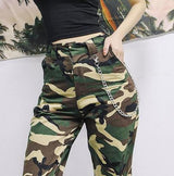 High waist camouflage pants - SD-style-shop