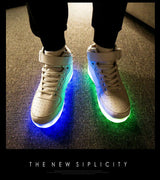 White High top Led Shoes - SD-style-shop