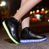 Black High top Led Shoes - SD-style-shop
