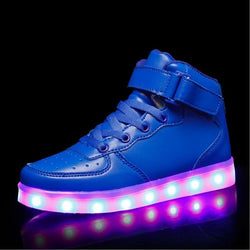 Blue High top Led Shoes - SD-style-shop