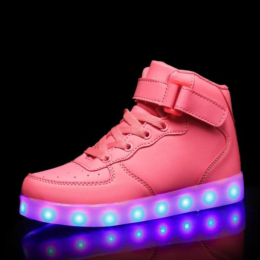 Pink High top Led Shoes - SD-style-shop