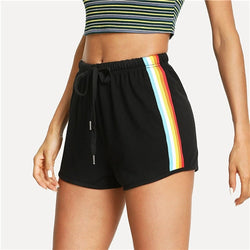 Striped Side Drawstring Shorts - SD-style-shop