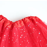 Tutu skirt with glitter stars for Kids Dance Pettiskirt Children - SD-style-shop