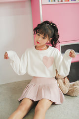 Kawaii Sweatshirt with Heart - SD-style-shop