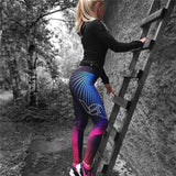 Blue & PInk High Waist Fitness Leggings - SD-style-shop
