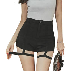 High Waist Shorts with Bandage kpop style - SD-style-shop