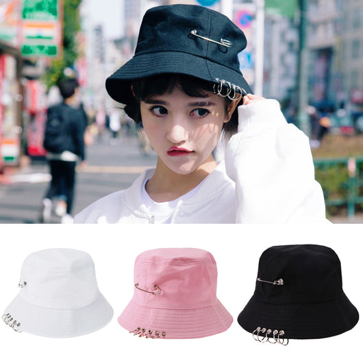 Bucket Hat with rings and pin - SD-style-shop