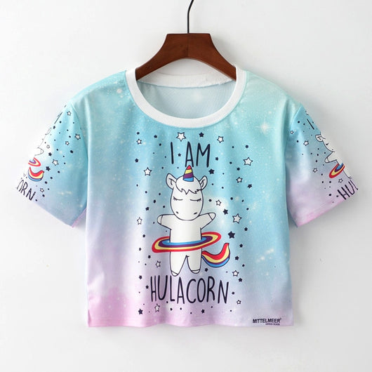 Cropped tshirt Unicorn - SD-style-shop