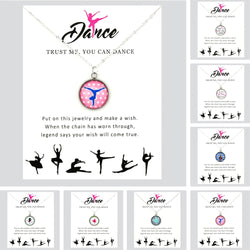 Dance Pendant Necklaces Ballerina Gymnast jewelry - SD-style-shop