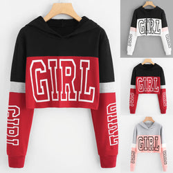 Short GIRL cropped hoodie sweatshirt - SD-style-shop