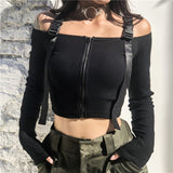 Long Sleeve croptop with straps - SD-style-shop