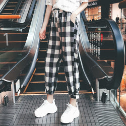 Black and White plaid Pants - SD-style-shop