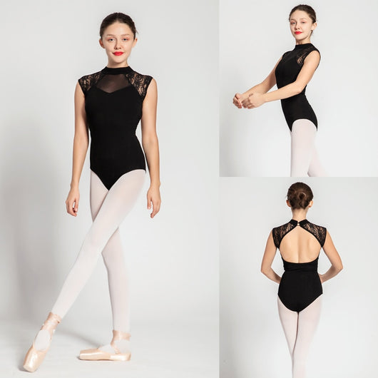 Lace shoulder leotard - SD-style-shop