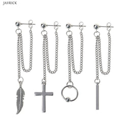 Kpop style Earrings double chain - SD-style-shop