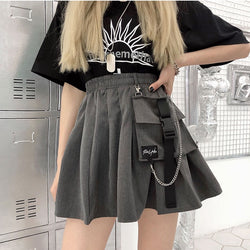 Mini skirt with Big Pocket and chain - SD-style-shop