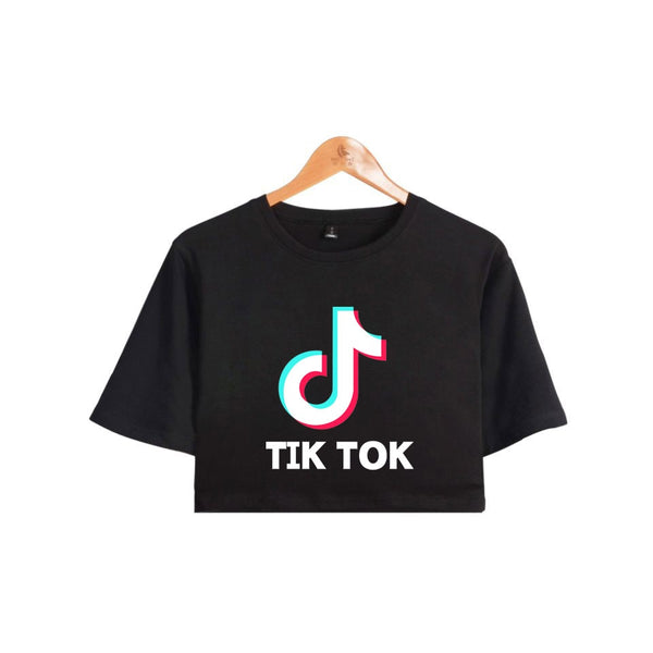 Tiktok croptop cropped tshirt - SD-style-shop