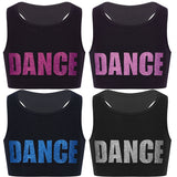 Girls Short Tanktop Shiny Letters DANCE - SD-style-shop