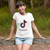 Kids TikTok tshirt with username - SD-style-shop