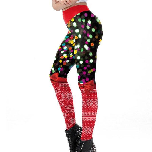 Colourful Christmas leggings - SD-style-shop