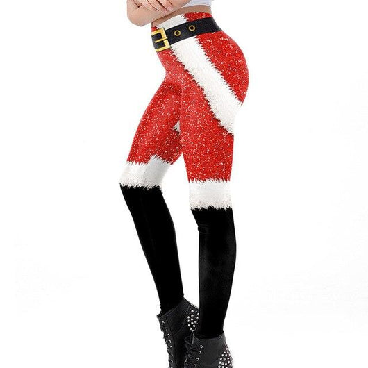 Funny Christmas Santa leggings - SD-style-shop