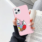 BT21 soft silicone iPhone case - SD-style-shop