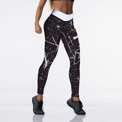High Waist Fitness leggings - black-white - SD-style-shop