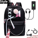 BTS backpack with logo and ribbons - SD-style-shop