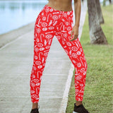 Red Christmas leggings - SD-style-shop