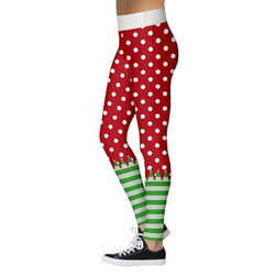 Santa pants - christmas leggings, polkadots - SD-style-shop