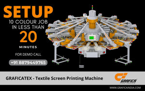 Now comfortably say YES to short run jobs on GRAFICATEX - Textile Screen Printing Machines
