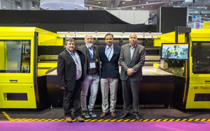 Aeoon launches Titan flatbed high speed digital printer at FESPA Hamburg Germany