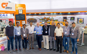 Grafica demonstrated GraficaTex Textile Screen Printing Machine at GMMSA Ludhiana