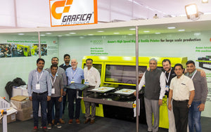 Grafica showcases Aeoon's DTG Digital Printing Machine at GMMSA Ludhiana
