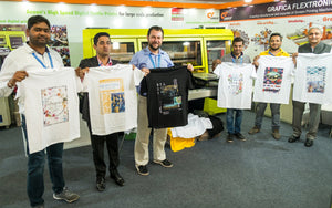 Grafica showcases Aeoon's DTG Digital Printing Machine at GTE Okhla New Delhi