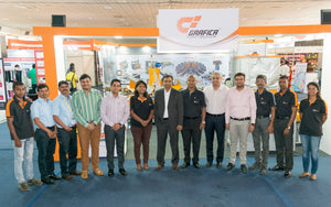 Grafica's textile screen printing machine and Nano-Print plus at Screen Print India Sri Lanka
