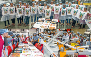 One day workshop on Textile Screen Printing for students of Sophia College Mumbai