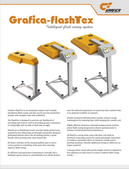 Grafica FlashTex Flash Curing Unit for automatic textile screen printing machine