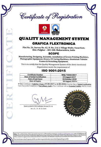Grafica Flextronica | ISO 9001:2015 Cerfitication