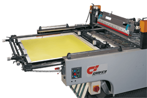 STOP Cylinder Press Automatic Screen Printing Machine For High Speed High Accuracy