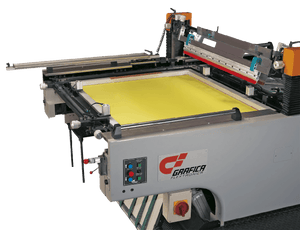 STOP Cylinder Press Automatic Screen Printing Machine For High Speed High Accuracy Screen Printing Machine Grafica Flextronica